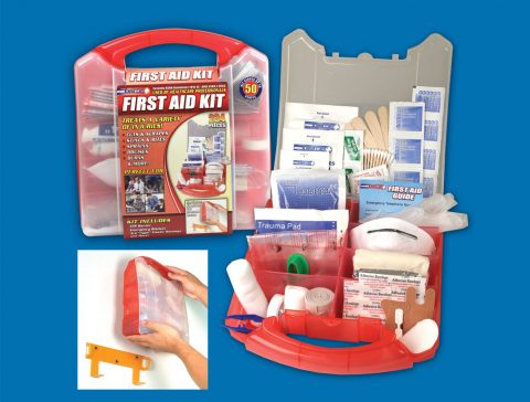 234 Piece Detachable Wall Mount First Aid Kit