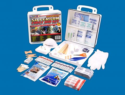 50 Person OSHA/ANSI 2015 Class A Poly First Aid Kit