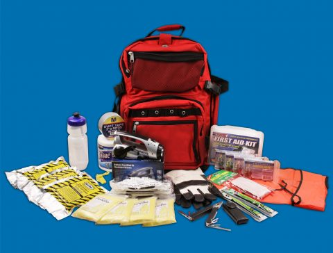 4 Person Survival Backpack w/First Aid Kit